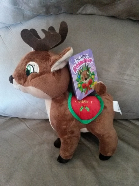 "Primary image for 2015 Santa's Reindeer COMET New Licensed Plush NWT Tags 12"" Christmas Xmas"