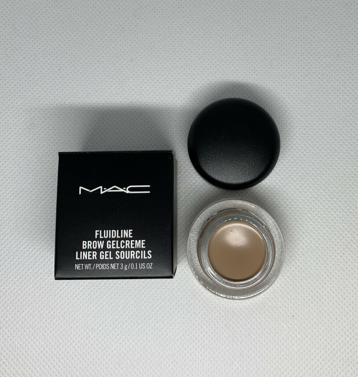 MAC Fluidline Brow Gelcreme Liner Gel -ASH BLONDE- Full Size 3g .1 oz New In Box - $16.24