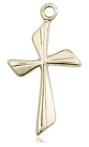 CROSS - 14 KT Gold Medal Pendant  - NO CHAIN