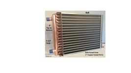 """8X8 Water to Air Heat Exchanger~~1"""" Copper ports w/ EZ Install Front Flange - $41.14"""