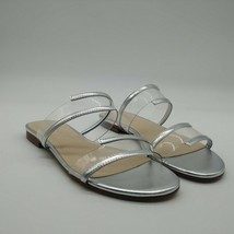 Marc Fisher Womans Calin Slide Sandal Silver Cushioned Insole Sz 6.5 M NEW - $27.30