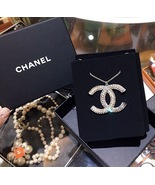 BNIB 100% AUTHENTIC CHANEL 2017 LARGE CRYSTAL CC LOGO PENDANT NECKLACE S... - $899.99