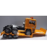 Bruder Model Flatbed Toy Truck 1:16 Fliegl Yellow Plastic Construction - $94.50
