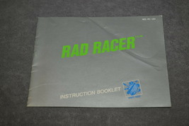Nintendo NES: Rad Racer [Instruction Book Manual ONLY] - $5.00