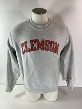 Vintage Champion Reverse Weave Clemson Tigers Crewneck Sweatshirt Heathe... - $44.54