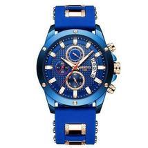 Ship From USA NIBOSI Watch Men Quartz Silicone Fashion Watches Waterproof Shockp image 3