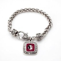 Inspired Silver Classic Florida State University Logo Silver plated Hear... - $590,81 MXN
