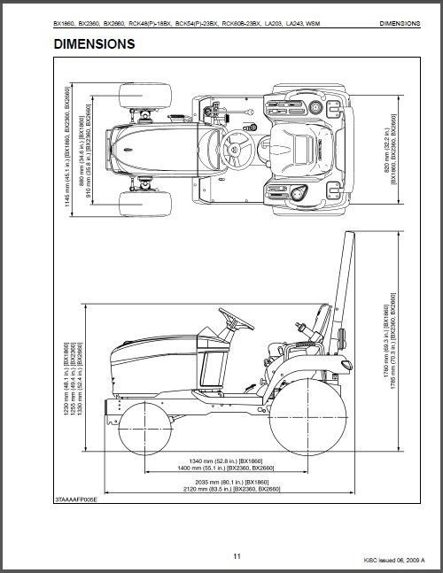 kubota bx1860 bx2360 bx2660 compact tractor / mower service workshop manual  cd