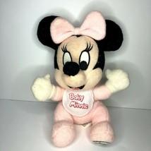 Walt Disney World Vintage Baby Minnie With Bib Stuffed Plush - $11.00