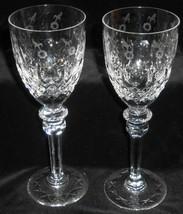 Set (2) Rogaska Crystal GALLIA PATTERN 6 oz Wine Stems - $79.19