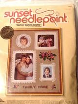 Sunset Family Photo Frame #6900 Needlepoint Craft Kit New - $11.88