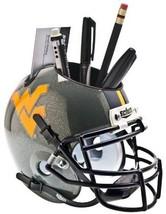 West Virginia Mountaineers (Gray) NCAA Football Schutt Mini Helmet Desk Caddy - $21.95