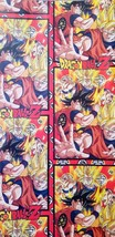 Dragon Ball Z Wrapping Paper Sheet Gift Book Cover Party Wrap Asian Boy 2pcs Red - $16.78