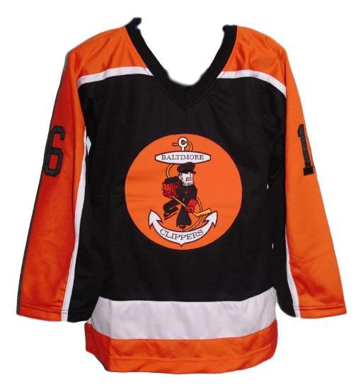 Custom Name # Baltimore Clippers Retro Hockey Jersey New Black Any Size