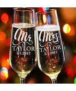 Buythrow® 2 Pcs/Lot Hand Engraving Toasting Glasses For Bride Groom Wedding - $34.34