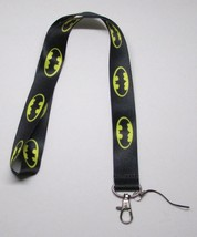 Black BATMAN LANYARD KEY CHAIN Ring Keychain ID Holder NEW - $12.99