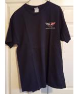 T-Shirt Corvette Vette L Black 100% Pre-Shrunk Cotton - $12.99