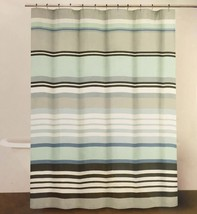 DKNY Urban Lines Periwinkle Luxury Fabric Shower Curtain 72 x 72 inches - $39.11