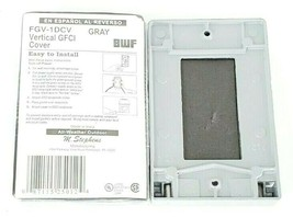 LOT OF 2 NEW BWF FGV-1DCV VERTICAL GFCI COVERS GRAY FGV1DCV image 2