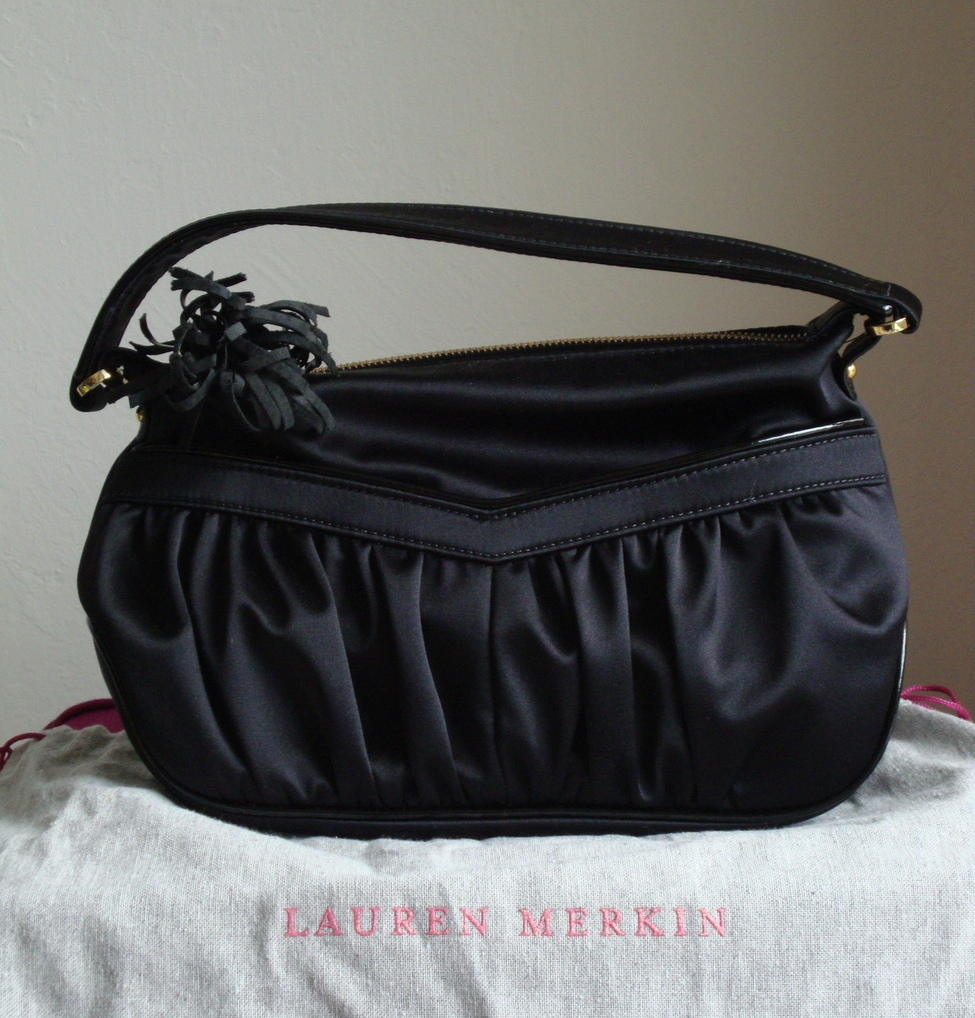 Lauren Merkin Baby Bianca in Black Satin