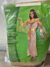 Disguise Brand QUEEN OF EGYPT Cleopatra Adult Halloween Costume Fits Up To Sz 14 - £16.33 GBP