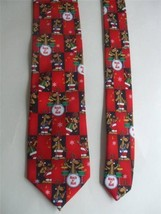 Hallmark Rock 'n Roll Reindeer Band Men's Novelty Necktie Red Christmas - $9.99