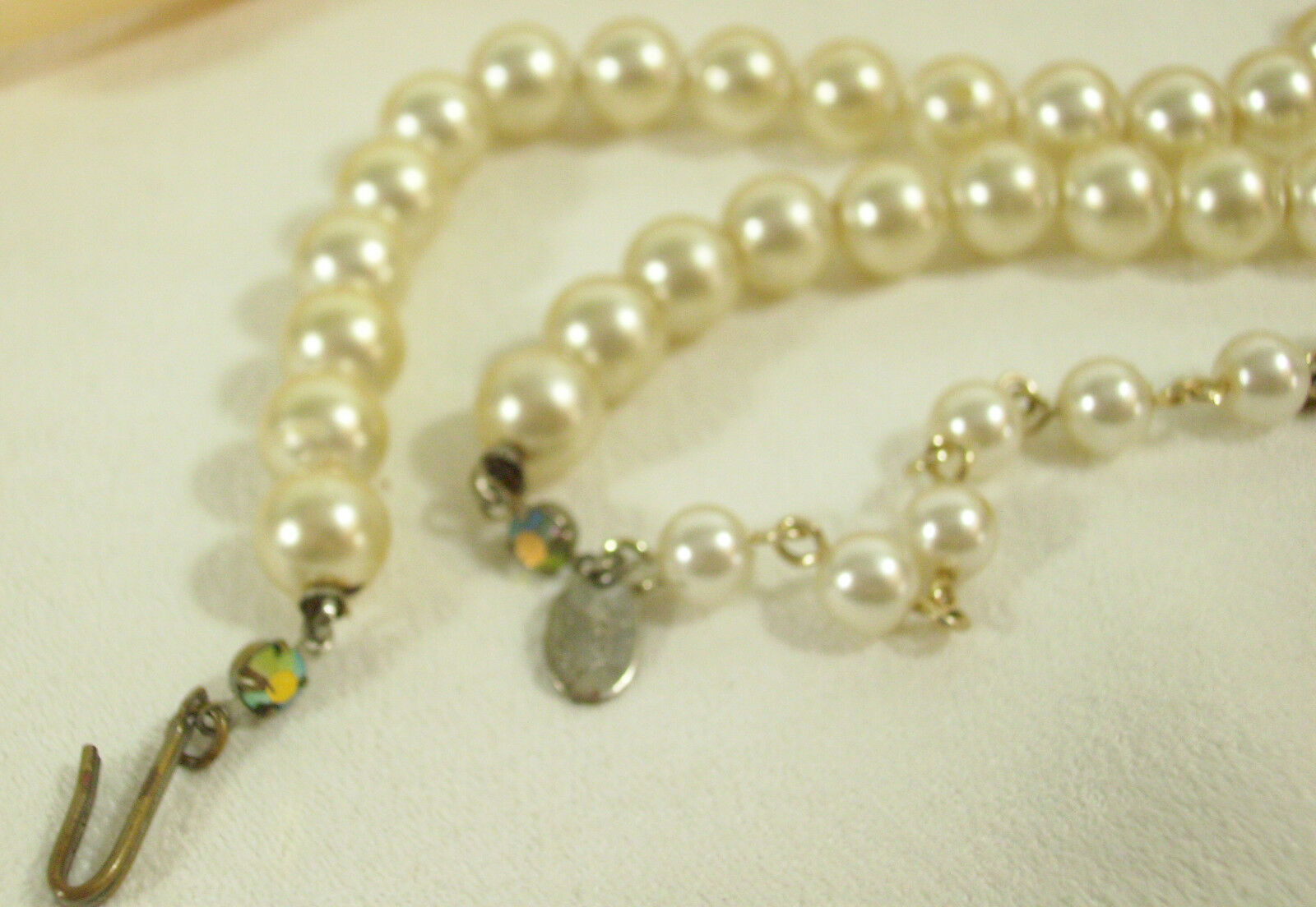 PARK LANE Faux Pearl Necklace Strand Classic Hand Knotted String Choker Vintage