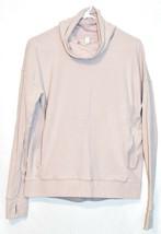 Lululemon Women's Porcelain Pink Stress Less Pullover Cowl Neck Turtleneck 6 image 1