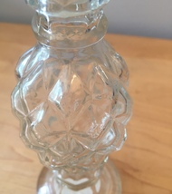 70s Avon Pressed Clear Glass candleholder/cologne bottle (Charisma) image 2