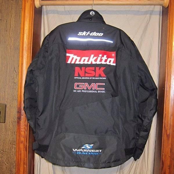 Black Skidoo Racing Makita Snowmobile Jacket Coat Mens Size Large