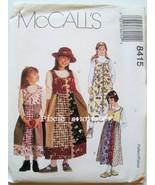 8415 McCalls Girls Jumper Dress Size CF Size 4-5-6 NEW - $3.69