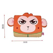 Cartoon Monkey Breathable Lumbar Support/Back Cushion Memory Foam, Orange
