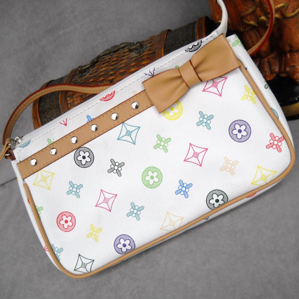 White Clutch Handbag Purse
