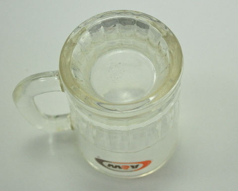 A&W Root Beer Miniature Mug Vintage Clear Glass