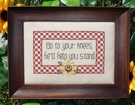 Go To Your Knees MBT046 cross stitch chart My Big Toe Designs - $8.00