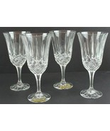 Vintage Noritake Crystal Germany Wing Glasses Goblets Set of 4 - $44.85