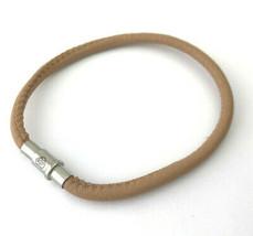 Brighton Coachella Buff Leather Bracelet, Size L, New - $28.49