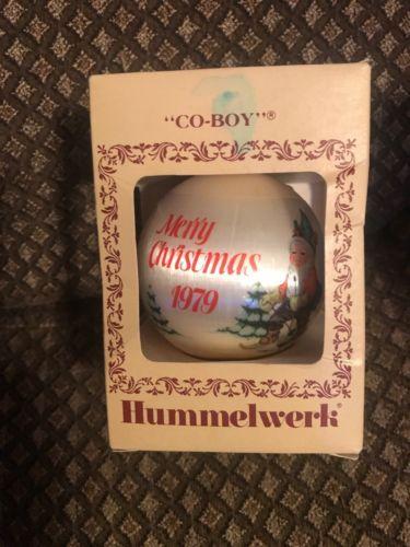 Hummelwerk Christmas Ornament Satin Ornament Co Boy  Co-boy 1979.