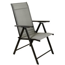 "Northlight 40"" Brown Steel and Mesh Foldable Reclining Patio Arm Chair - $92.80"