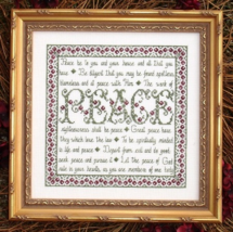 Building Blocks Peace MBT047 cross stitch chart My Big Toe Designs - $8.00