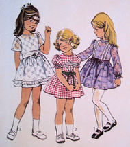 Simplicity 6819 Vintage 1970s Sewing Pattern Unused Girls 6 Skirt Dress - $14.95