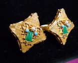 Cuff links gold with green   pearl angels 06 thumb155 crop