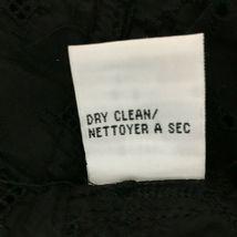 Calvin Klein 14 Large Top Button Shirt Black Eyelet Dot Square Texture Peplum LN image 8
