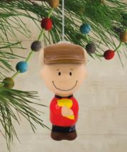 Hallmark Peanuts Charlie Marrone Decoupage Natale Ornamento Nuovo con Etichetta image 4