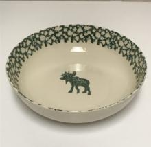 "Tienshan Folk Craft Moose Country Green Sponge 9"" Vegetable Serving Bowl - $19.99"