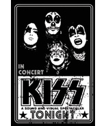 KISS CONCERT POSTER MAGNET A SOUND AND VISUAL SPECTACULAR BLACK AND WHITE - $4.86