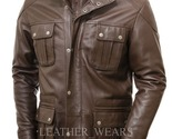 Brown leather jacket 01 thumb155 crop