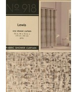 Lewis Grey Fabric Shower Curtain No. 918 Gray Textured Pattern - $34.64