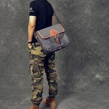 Sale, Canvas With Leather Messenger Bag, Large Capacity Shoulder Bag, Laptop Bag image 6