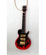 "LES PAUL FLAME ELECTRIC GUITAR INSTRUMENT ORNAMENT 4""  RED - $9.26"